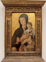 Джентиле Беллини. Мадонна с младенцем и двумя молящимися (в оформлении)