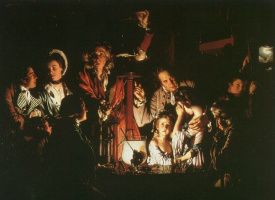 Joseph Wright. An experiment with an air pump
