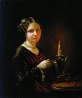 Василий Андреевич Тропинин. Девушка со свечой