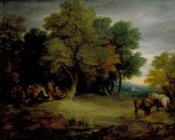 Томас Гейнсборо. Цыганский лагерь на закате