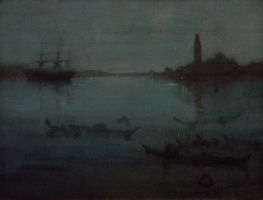 James Abbot McNeill Whistler. Nocturne in blue and silver: the Lagoon, Venice