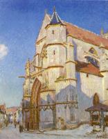 Альфред Сислей. Церковь в Морэ