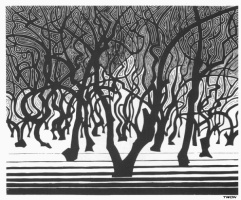 Maurits Cornelis Escher. Forests near Menton