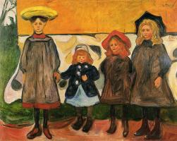 Edvard Munch. Four girls in Asgardstrand