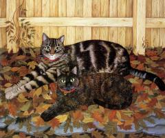 Мими Ванг Олсен. Два ленивых кота