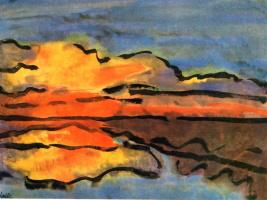 Эмиль Нольде. Прибрежный пейзаж