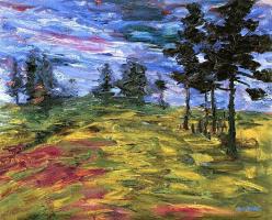 Эмиль Нольде. Пейзаж с молодыми еловыми деревями
