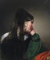 Фридрих фон Амерлинг. Девушка в черной мантилье.