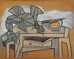 Pablo Picasso. Still life with cock and knife