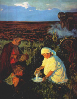 Аркадий Александрович Пластов. Трактористы за ужином