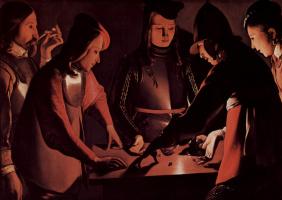 Georges de La Tour. The dice