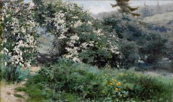 Григорий Федорович Ярцев. Цветущие фруктовые деревья