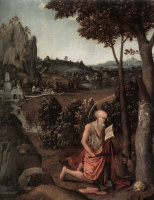 Иоахим Патинир. Скалистый пейзаж со Святым Иеронимом