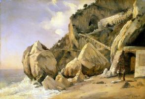 Камиль Коро. Скалы в Амальфи