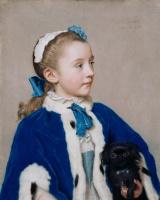 Жан-Этьен Лиотар. Портрет Марии Фредерики ван Реде-Атлон в семь лет