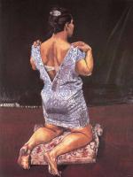 Паула Рего. Женщина на коленях