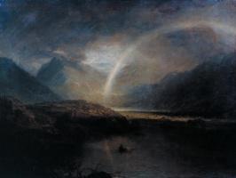Джозеф Мэллорд Уильям Тёрнер. Озеро Баттермер с видом на Кромакуотер в Камберленде, ливень