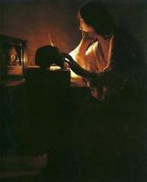 Жорж де Латур. Кающаяся Магдалина