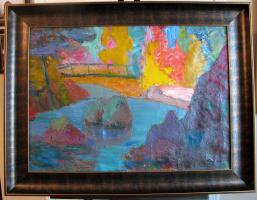 "Микола Недилко   (1902-1979) Украина-США. ""Мост над водой"""