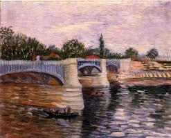 Винсент Ван Гог. Сена и мост Гранд-Жатт