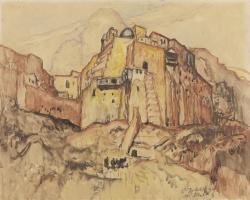 Константин Иванович Горбатов. Вид на Мар Саба. 1935