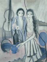 Мари Лорансен. Две сестры с виолончелью