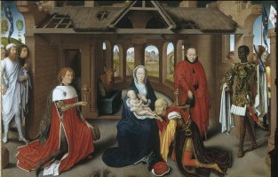 Hans Memling. Adoration of the Magi. The central panel of the triptych of the same name