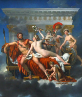 Jacques-Louis David. Mars disarmed by Venus and the three graces