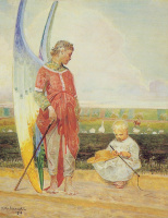 Jacek Malchevsky. The angel and the shepherd boy 1