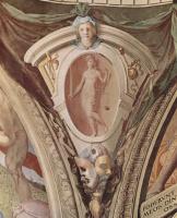 Аньоло Бронзино. Фрески капеллы Элеоноры Толедской в Палаццо Веккио во Флоренции, медальоны, сцены: аллегории добродетелей кардинала. Деталь