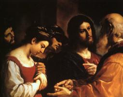 Гуеркин. Иисус и блудница