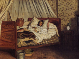 Frédéric Bazille. A makeshift hospital. Monet after his accident at Chailly