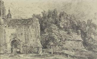 Джон Констебл. Церковь Восточного Бергхольда, северная  арка разрушенной башни