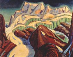 Артур Лизмер. Ледник над озером Морене
