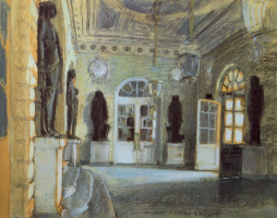 Alexander Nikolaevich Benoit. The entrance to the Pavlovsk Palace