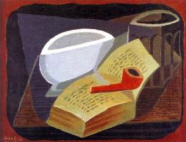 Хуан Грис. Книга и трубка
