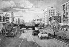The City Of Grozny. Prospekt Lenina