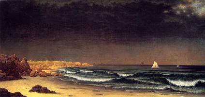Мартин Джонсон Хед. Приближающийся шторм, пляж недалеко от Ньюпорта