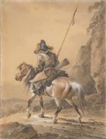 Александр Осипович Орловский. Киргиз на лошади.