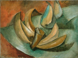 Georges Braque. Five bananas and two pears
