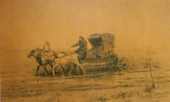 """The carriage,"" charcoal"