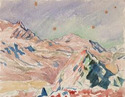 Giovanni Giacometti. Mountain landscape, Maloja