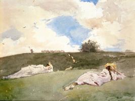 Winslow Homer. Resting shepherdess