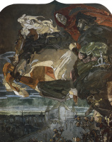 Mikhail Aleksandrovich Vrubel. Flight of Faust and Mephistopheles