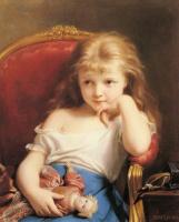 Фриц Зубер-Бюлер. Маленькая девочка с куклой