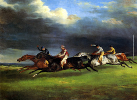 Théodore Géricault. Horse racing at Epsom