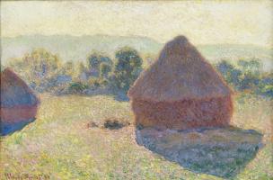 Claude Monet. Haystacks in the sunlight. Noon