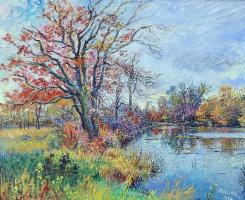 David Davidovich Burliuk. Autumn pond