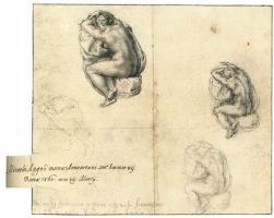 Michelangelo Buonarroti. Seated Nude