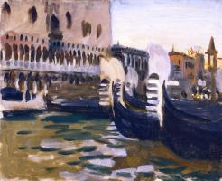 Джон Сингер Сарджент. Вид из гондолы на дворец Дожей, Венеция